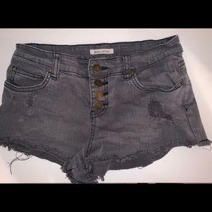 Billabong riped jean shorts